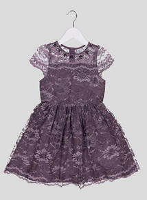 Purple Lace Party Dress (3 - 14 years)