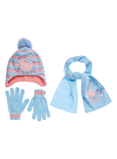 Kids Girls Multicoloured Peppa Pig Knitted Set (9 months-5 years ... e6dc43b66dad
