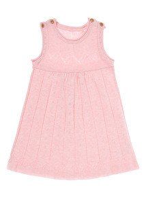 Girls Pink Knitted Pinny (0-12 months)