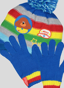 Multicoloured Hey Duggee Trapper Hat & Gloves Set (1-9 years)
