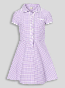 Lilac Classic Gingham Dress (3-12 years)