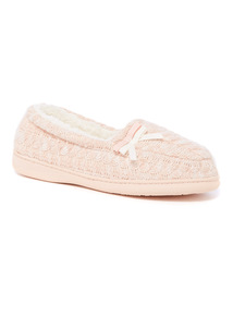 Cable Knit Full Slipper