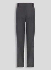 Girls Teen Grey Longer Leg Trousers (10-16 years)