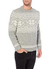 Grey Snowflake Fairisle Knit