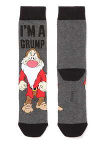 Father's Day Charcoal Disney Im a Grump Socks
