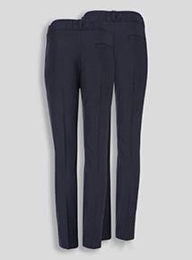Online Exclusive Navy Woven Trousers Longer Leg 2 Pack (3-12 years)
