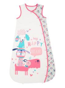 Pink Puppy Love Sleeping Bag (0-24 months)