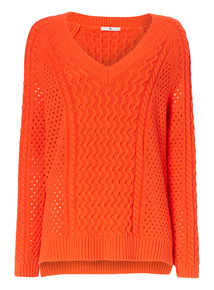 Red Cable Cricket Jumper