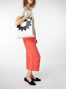 Floral Shopper Shoulder Bag