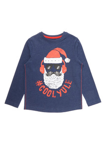 Blue Christmas Cool Yule T-Shirt (3-14 years)