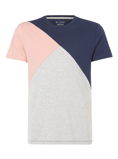 Multicoloured Cut And Sew Tee