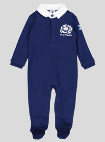 Online Exclusive Scotland Rugby Navy Sleepsuit