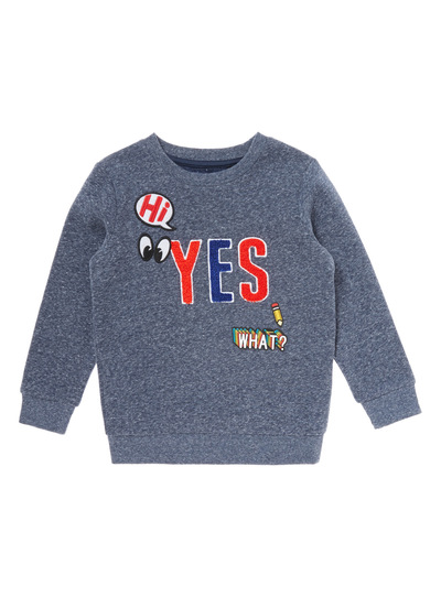 Blue Hi Yes What Jumper (9 months-6 years)