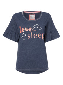 'Love Sleep' Slogan Pyjama Tee