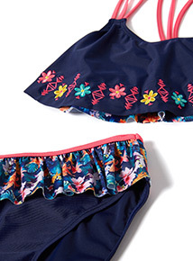 3 Piece Navy Floral Swim Set (4-14 years)