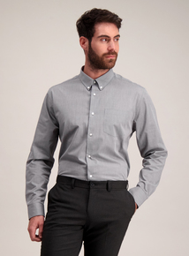 Grey & Blue Check Tailored Fit Shirts 2 Pack
