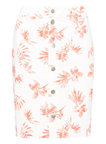 Surf Print Pencil Skirt