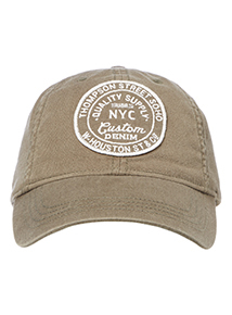Khaki Embroidered Badge Cap