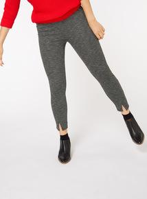 Monochrome Split Front Leggings