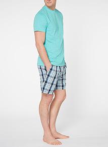 Green T-shirt And Shorts Pyjama Set