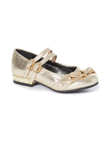 Faux Pearl Heel Party Shoe