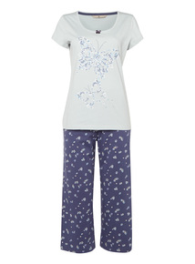 Blue Butterfly PJ Set