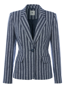 Pinstripe Blazer Jacket