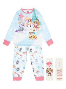 White Paw Patrol Pyjama Set With Socks (1.5-7 years)