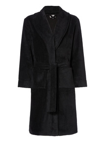 Black Towel Robe
