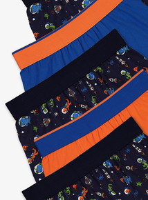 Multicoloured Space & Dinosaur Print Trunks 5 Pack (3-13 Years)