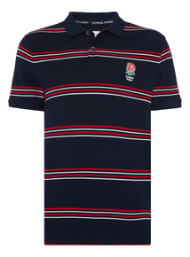 Navy England Rugby Polo Shirt