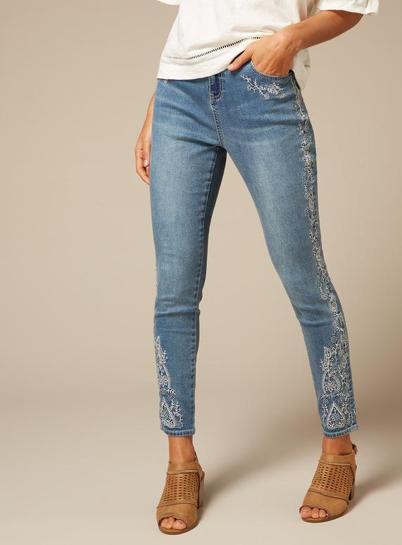 Premium Embroidered Jeans