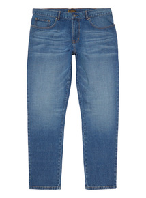 Light Wash Tapered Stretch Jeans