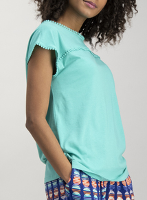 Green Cap Sleeve T-Shirt