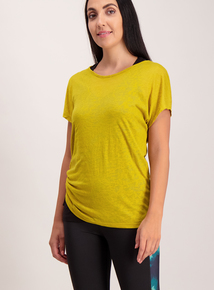 Active Yellow Double Layered T-Shirt