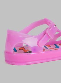 Online Exclusive Spot On Pink Jelly Sandals (10 infant-1 child)