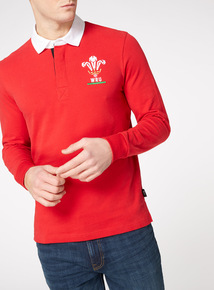 Official Licensed Wales Red Rugby Top