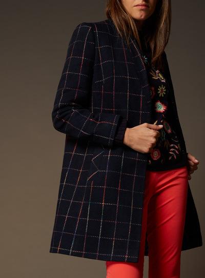 Premium Check Pattern Coat