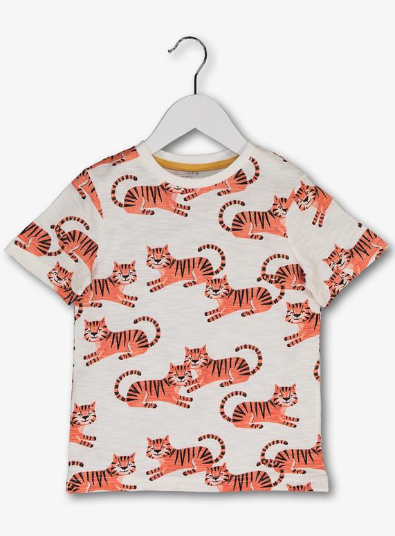 7b8a3d28f Baby White Tiger Print T-Shirt (9 months - 6 years) | Tu clothing