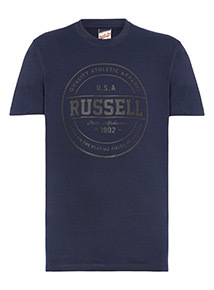 Russell Athletic Navy Rubber Print Tee