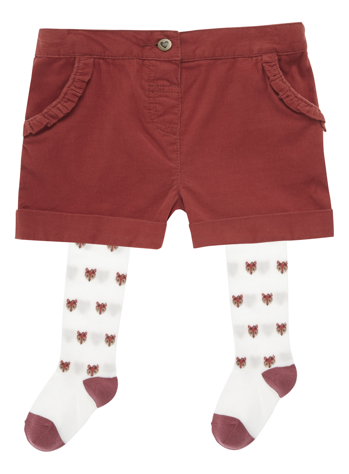 All Girl's Clothing Girls Orange Shorts And Tights (9 months - 5 ...