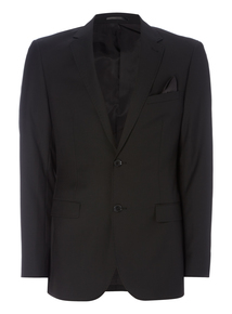 Black Slim Fit Wool Suit Jacket