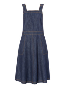 Navy Denim Pinafore