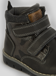 Charcoal Grey Camo Mix Twin Strap Boot (6 Infant-4 Child)