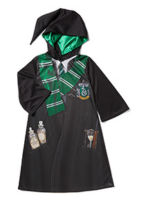 Black Harry Potter Slytherin Robe Costume (3-12 years)