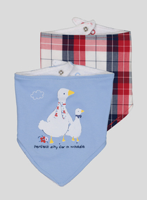 Multicoloured Goose Hanky Bib 2 Pack (One Size)