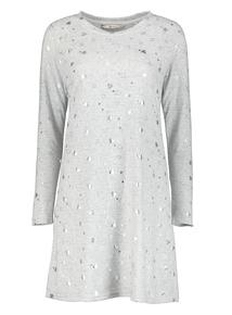 Grey Heart Print Nightdress