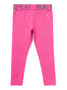 Pink Plain Leggings (3-14 years)
