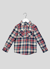 Navy and Red Checked Shirt (9 months-6 years)