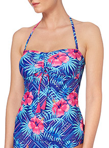 Online Exclusive Bright Floral Tankini Top